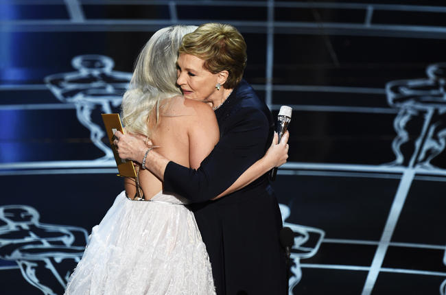 lady-gaga-julie-andrews-oscars-sound-of-music-2015-billboard-650