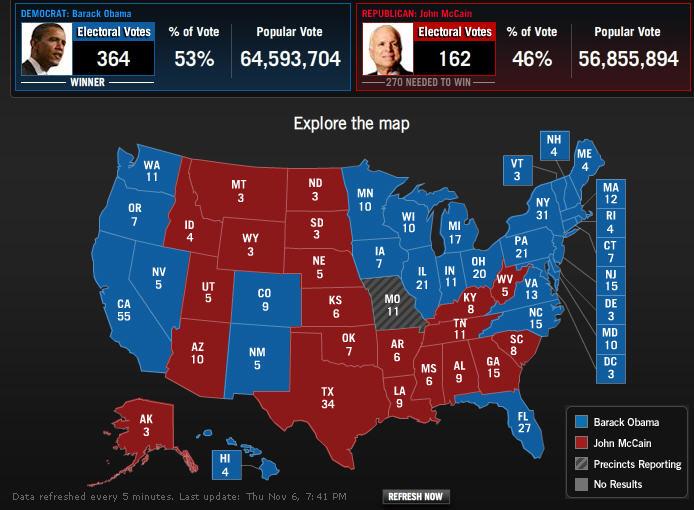 Good Morning Mr President : Good morning mr president elect barack obama defeats