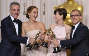 Daniel Day-Lewis, Jennifer Lawrence, Anne Hathaway, Christoph Waltz