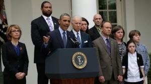President Obama Speaks In The Rose Garden Of White House