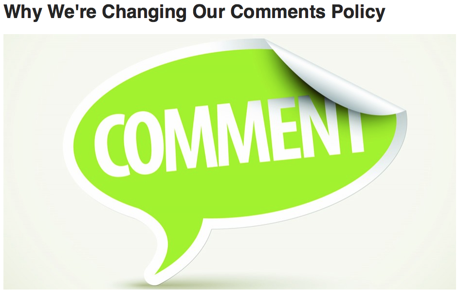 online commenting policy Commenting policy rns's comments section is meant to be a place of lively yet respectful and edifying discussion of our stories and the issues they raise.