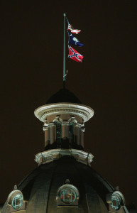 CONFEDERATE FLAG FLIES OVER SOUTH CAROLINA STATE CAPITOL