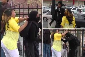 Mum-beats-child-for-throwing-rocks-at-Baltimore-Police-main