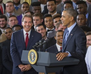 Barack Obama, Nick Saban