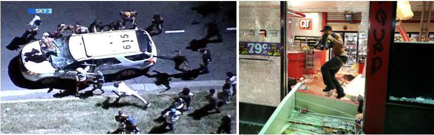 a comparison of a case of police brutality in charlotte and tulsa Police officers face off with protesters on the i-85 (interstate 85) during protests in the early hours of september 21, 2016 in charlotte, north carolina.